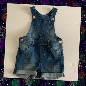 Girls H&M Overall Shorts Size 9/12 Months